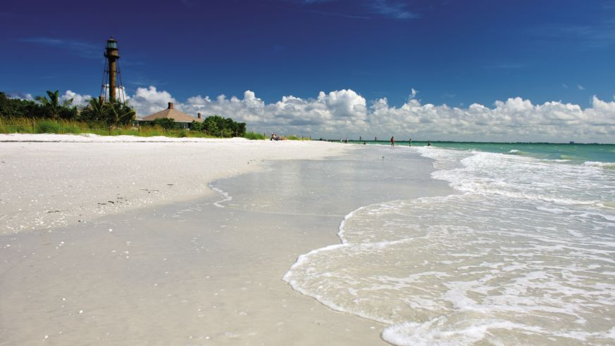 The beach at Sanibel Island, Florida