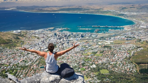 The view from Table Mountain, Cape Town, South Africa.