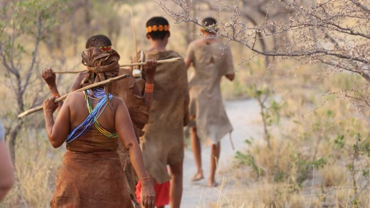 San people in Botswana.
