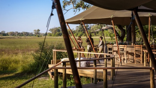 Lodges in the Okavango Delta are small and high quality.