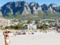 Cape Town's iconic Camps Bay beach.
